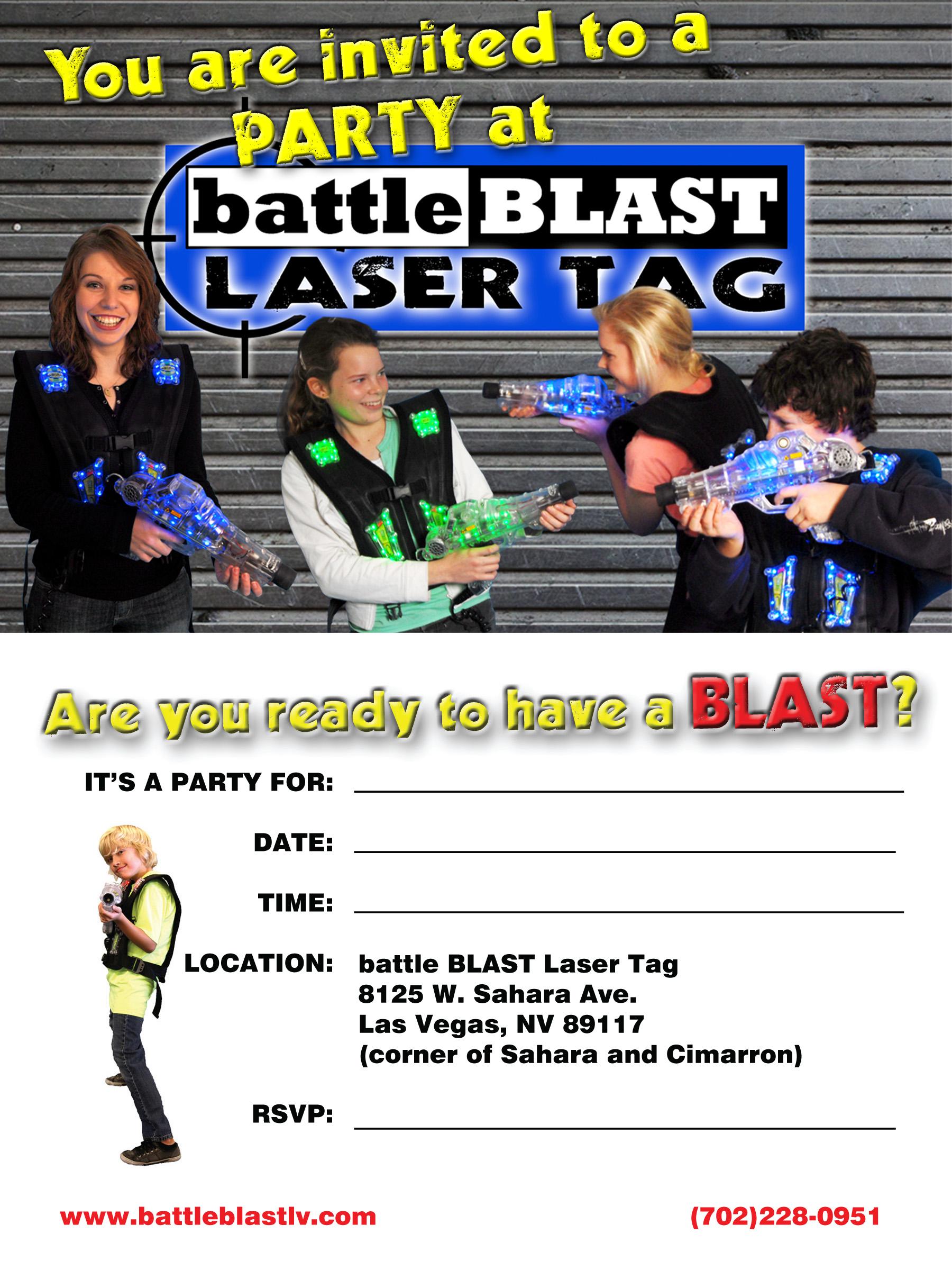 Party Invitations - BattleBLAST